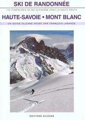 Ski de randonnee en haute savoie et au mont-blanc - Intérieur - Format classique