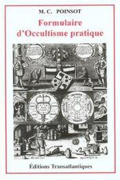 Formulaire d'occultisme pratique - Intérieur - Format classique