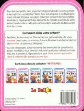 Petits Pas ; Les Mots 12-18 Mois - 4ème de couverture - Format classique