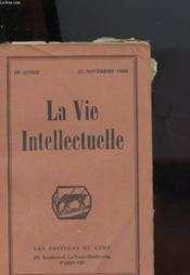 La Vie Intellectuelle - Couverture - Format classique