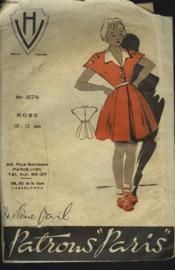 Patron Helene Vail N°674. Robe 10-12 Ans. - Couverture - Format classique