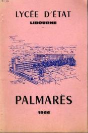 Palmares 1966 - Couverture - Format classique