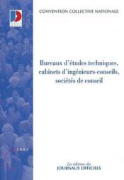 Bureaux d'études techniques ; cabinets d'ingenieurs-conseils, sociétés de conseils - Couverture - Format classique