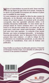 Sartre Hors Du Purgatoire - 4ème de couverture - Format classique