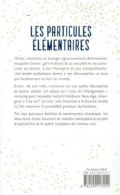 Les particules élémentaires - 4ème de couverture - Format classique
