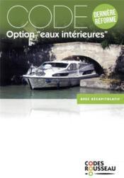 Code Rousseau ; option eaux intérieures - Couverture - Format classique
