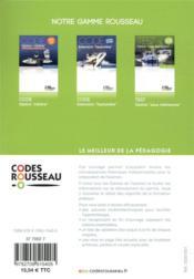 Code Rousseau ; option eaux intérieures - 4ème de couverture - Format classique
