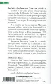Les luttes de classes en France au XXIe siècle - 4ème de couverture - Format classique