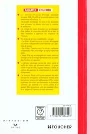 Francais - 4ème de couverture - Format classique