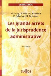 Les Grands Arrets De La Jurisprudence Administrative (16e Edition) - Intérieur - Format classique