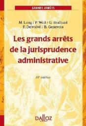 Les Grands Arrets De La Jurisprudence Administrative (16e Edition) - Couverture - Format classique