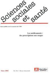 Revue Sciences Sociales Et Sante N.20 ; Les Médicaments - Couverture - Format classique