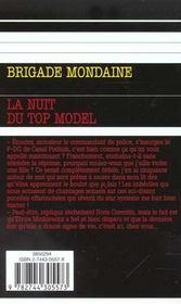Brigade mondaine t.213 ; la nuit du top model - 4ème de couverture - Format classique