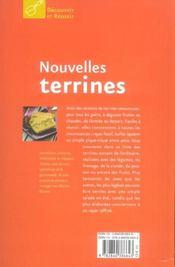 Nouvelles terrines - 4ème de couverture - Format classique