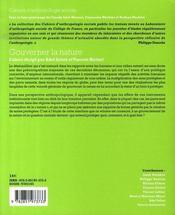Cahiers D'Anthropologie Sociale T.3 ; Gouverner La Nature - 4ème de couverture - Format classique