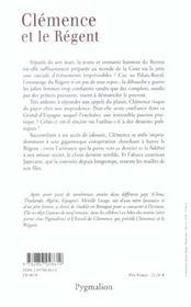 Clemence Et Le Regent - 4ème de couverture - Format classique