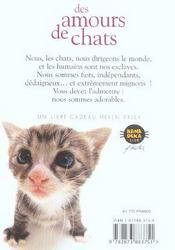 Amours De Chats - 4ème de couverture - Format classique