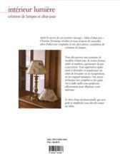 Intérieur lumière ; création de lampes et abat-jours - 4ème de couverture - Format classique
