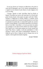 Lettres à Véronique - 4ème de couverture - Format classique