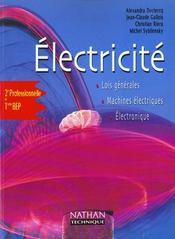 Electricite 2e-Terminale Bep ; Livre De L'Eleve - Intérieur - Format classique