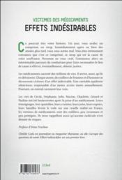 Victimes des médicaments - 4ème de couverture - Format classique