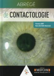 Abrege de contactologie - Couverture - Format classique