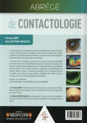 Abrege de contactologie - 4ème de couverture - Format classique