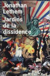 Jardins de la dissidence - Couverture - Format classique