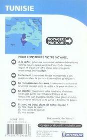 Voyager Pratique ; Tunisie - 4ème de couverture - Format classique