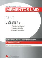 Droit des biens (édition 2018/2019) - Couverture - Format classique