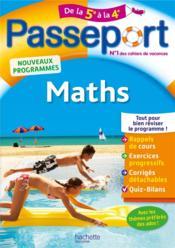 Passeport ; maths ; de la 5e à la 4e - Couverture - Format classique