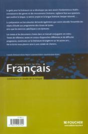 Français ; classes des lycées - 4ème de couverture - Format classique