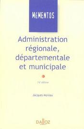 Administration régionale, départementale et municipale - Intérieur - Format classique