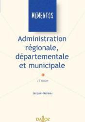 Administration régionale, départementale et municipale - Couverture - Format classique