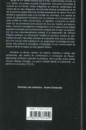 La Normandie au XVII siècle ; croissance, lumières et révolution - 4ème de couverture - Format classique
