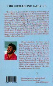 Orgueilleuse Kabylie T.1 ; La Vie Et La Guerre - 4ème de couverture - Format classique