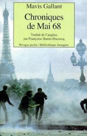 Chroniques de Mai 68 - Couverture - Format classique