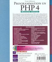 Campuspress Reference Php 4 - 4ème de couverture - Format classique