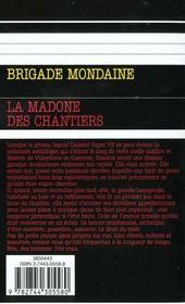 Brigade mondaine t.214 ; la madone de chantiers - 4ème de couverture - Format classique