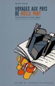Voyages aux pays de nulle part histoire litteraire de la pensee utopique - Couverture - Format classique