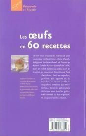 Les oeufs en 60 recettes - 4ème de couverture - Format classique
