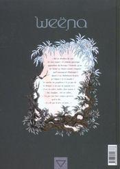 Weëna t.1 ; atavisme - 4ème de couverture - Format classique