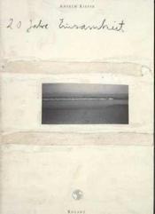 20 ans de solitude - Couverture - Format classique