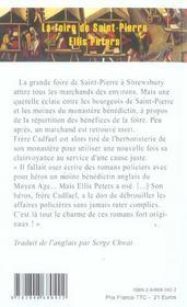La foire de Saint-Pierre - 4ème de couverture - Format classique