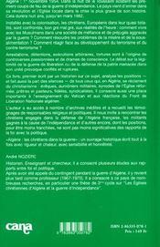 Algerie - 4ème de couverture - Format classique