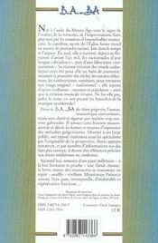 Chant grégorien - 4ème de couverture - Format classique