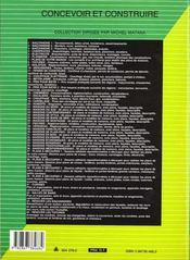 Menuiseries (Portes, Fenetres, Vitrerie, Parquets, Volets, Lamb - 4ème de couverture - Format classique