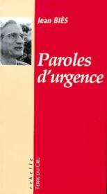 Paroles d'urgence - Couverture - Format classique