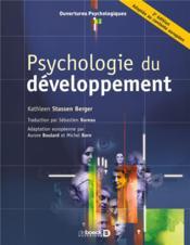 Psychologie du développement (2e édition) - Couverture - Format classique