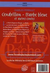 Cendrillon, Barbe-bleue et autres contes - 4ème de couverture - Format classique